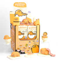 """Link to an enlarged image of Gudetama 3"""" Articulated Action Vinyls (THE LOYAL SUBJECT)"""