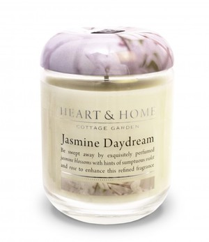 Link to an enlarged image of 340g Large Jar Candle: Jasmine Daydream