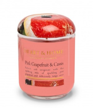 Link to an enlarged image of 340g Large Jar Candle: Pink Grapefruit & Cassis