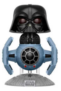 Link to an enlarged image of Star Wars - Darth Vader TIE Fighter Pop! Dlx !E RS