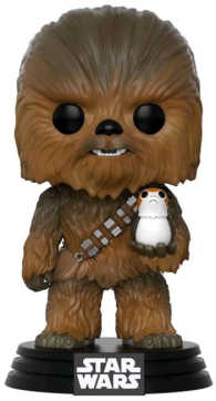Link to an enlarged image of THE LAST JEDI - Chewbacca w/Porg Ep8 Pop!