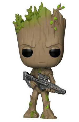 Link to an enlarged image of Avengers Infinity War- Teen Groot w/ Gun Pop!