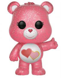 Link to an enlarged image of Care Bears - Love-A-Lot Bear Glitter US Exclusive Pop! Vinyl [RS]
