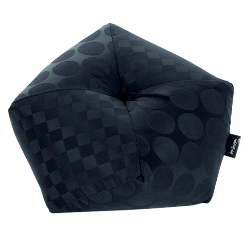 Link to an enlarged image of Ojami Cushion Black Satin