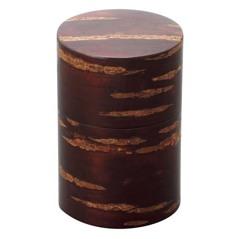 Link to an enlarged image of Cherr wood bark tea caddy/Koguchihari-Muji