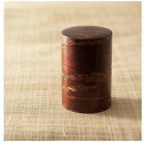 Link to an enlarged 3rd image of Cherr wood bark tea caddy/Koguchihari-Muji