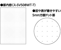 Link to an enlarged 2nd image of SV508WT-T  Kokuyo B5 Soft Ring Notebook 5mm Grid Ruled Line 80 sheets