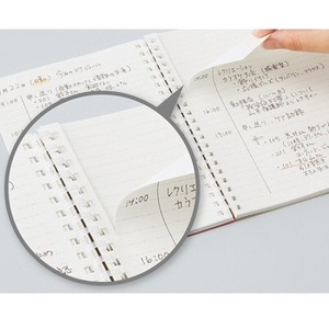 Link to an enlarged 3rd image of SV508WT-T  Kokuyo B5 Soft Ring Notebook 5mm Grid Ruled Line 80 sheets