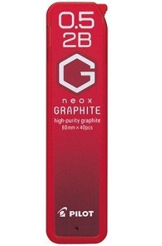 Link to an enlarged image of HRF5G-20-2B Pilot G Neox Lead Refills 0.5mm 2B