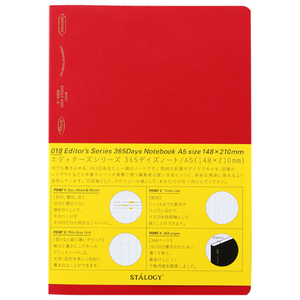 STALOGY Editors Series A5 Notebook Red