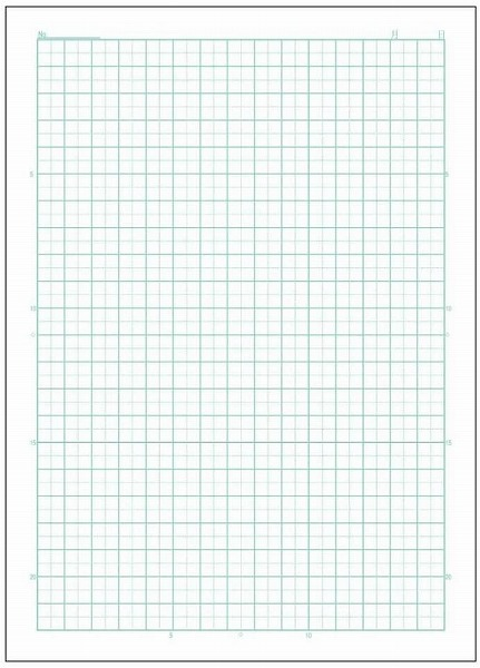 Link to an enlarged 2nd image of アピカ スクールライン 5mm方眼罫 10mm実線入り(セミB5) | LS10C