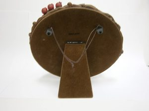 Link to an enlarged 2nd image of Totoro Stand Mirror - Hide and Seek in the Wreath