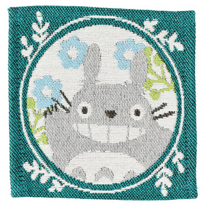 Link to an enlarged 2nd image of Tapestry Coaster 4 pcs Set - My Neighbor Totoro Leaf frame