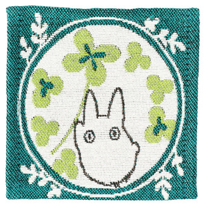 Link to an enlarged 4th image of Tapestry Coaster 4 pcs Set - My Neighbor Totoro Leaf frame