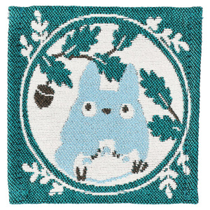 Link to an enlarged 5th image of Tapestry Coaster 4 pcs Set - My Neighbor Totoro Leaf frame