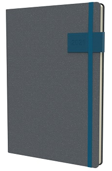 Link to an enlarged image of 2021 Diary Collins Gaia A5 Week to View Teal