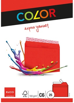 Link to an enlarged image of 74634.92 Elco Colour Envelope C6 25pcs
