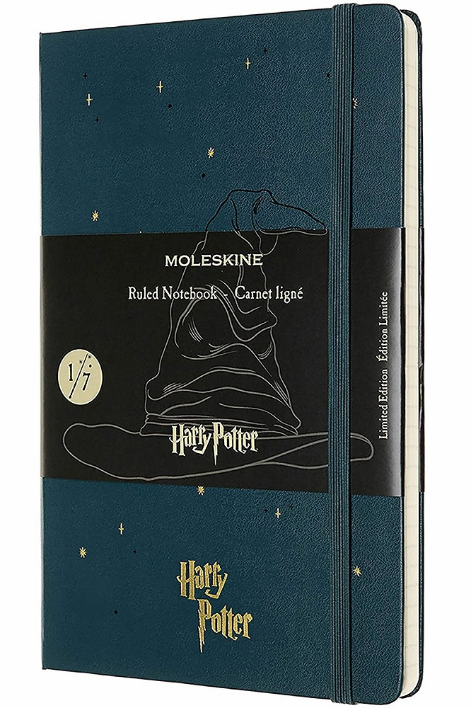 Link to an enlarged image of Moleskine Le Ntb - Harry Potter - Book 1 - Ruled - Lg - Dark Green