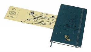 Link to an enlarged 2nd image of Moleskine Le Ntb - Harry Potter - Book 1 - Ruled - Lg - Dark Green
