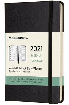 Link to an enlarged image of MOLESKINE 12M Wkly Ntbk Lg Blk Hard Cover