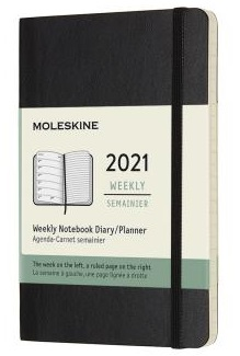 Link to an enlarged image of MOLESKINE 12M WKLY NTBK PK BLK SOFT (DSB12WN2Y21)