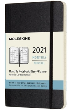 Link to an enlarged image of MOLESKINE 12 MONTHLY PK BLK SOFT (DSB12MN2Y21)