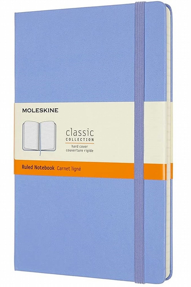 Link to an enlarged image of MOLESKINE CLASSIC NTB - RULED - LG -HYDRANGEA BLUE HC