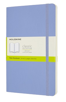 Link to an enlarged image of MOLESKINE CLASSIC NTB -PLAIN - LG - HARD HYDRANGEA BLUE HC