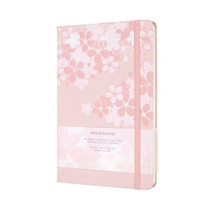 Link to an enlarged image of MOLESKINE LE NTB SAKURA RULED Large DARK PINK