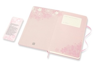 Link to an enlarged 3rd image of MOLESKINE LE NTB SAKURA RULED Large DARK PINK