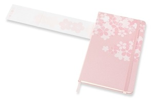Link to an enlarged 4th image of MOLESKINE LE NTB SAKURA RULED Large DARK PINK