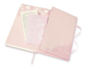 Link to an enlarged 5th image of MOLESKINE LE NTB SAKURA RULED Large DARK PINK