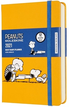 Link to an enlarged image of MOLESKINE 12M Peanuts Daily Pkt Piano