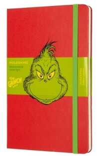 Link to an enlarged image of Moleskine Dr Seuss Grinch Ruled Red Notebook (Limited Edition)