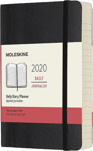 Link to an enlarged image of MOLESKINE 12M DAILY POCKET BLACK SOFT COVER