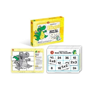 Link to an enlarged image of Beat The Crocodile (Multiplication) Bingo