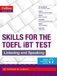 Link to an enlarged image of Toefl Listening and Speaking Skills : Toefl Ibt 100+ (B1+) (Collins English for the Toefl Test) -- Paperback / softback