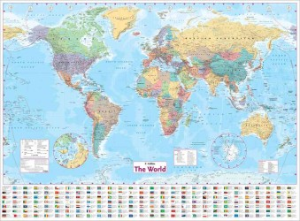 Books kinokuniya collins world wall paper map sheet map flat 9780007493111 gumiabroncs Image collections