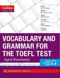 Link to an enlarged image of Vocabulary and Grammar for the TOEFL Test (Collins English for the TOEFL Test ) (Collins English for the TOEFL Test)
