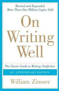 Link to an enlarged image of On Writing Well : The Classic Guide to Writing Nonfiction (On Writing Well) (30th Anniversary Reprint)