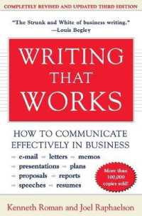 Link to an enlarged image of Writing That Works : How to Communicate Effectively in Business (3rd Reprint)