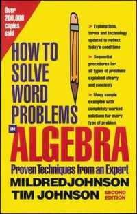 Link to an enlarged image of How to Solve Word Problems in Algebra : A Solved Problem Approach (2nd Subsequent)