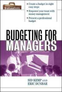 Link to an enlarged image of Budgeting for Managers (The Briefcase Books Series)