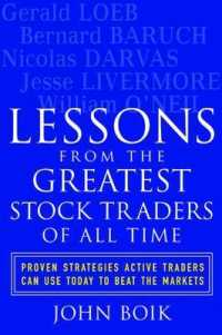 Link to an enlarged image of Lessons from the Greatest Stock Traders of All Time : Proven Strategies Active Traders Can Use Today to Beat the Markets