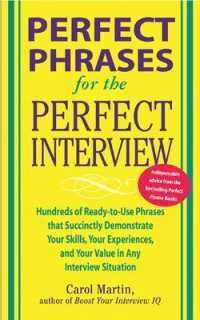 Link to an enlarged image of Perfect Phrases for the Perfect Interview