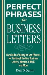 Link to an enlarged image of Perfect Phrases for Business Letters : Hundreds of Ready-to-Use Phrases for Writing Effective Business Letters, Memos, E-Mail, and More (Perfect Phras