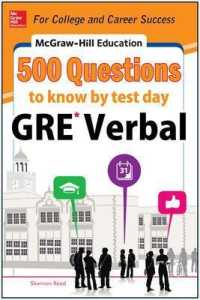 Link to an enlarged image of McGraw-Hill Education 500 GRE Verbal Questions to Know by Test Day (Mcgraw Hill's 500 Questions to Know by Test Day) (CSM)