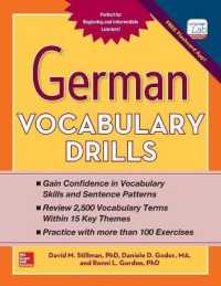 Link to an enlarged image of German Vocabulary Drills (CSM Bilingual)