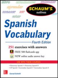 Books Kinokuniya: Schaum's Outlines Spanish Vocabulary (Schaum's