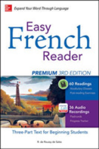 Link to an enlarged image of Easy French Reader : A Three-Part Text for Beginning Students (Easy Reader) (3rd Premium)